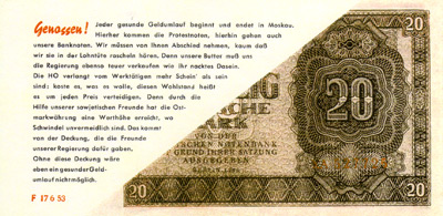 The Unfolded Tarantel Propaganda Banknote