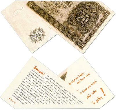 The Tarantel Propaganda Note Folded Correctly�