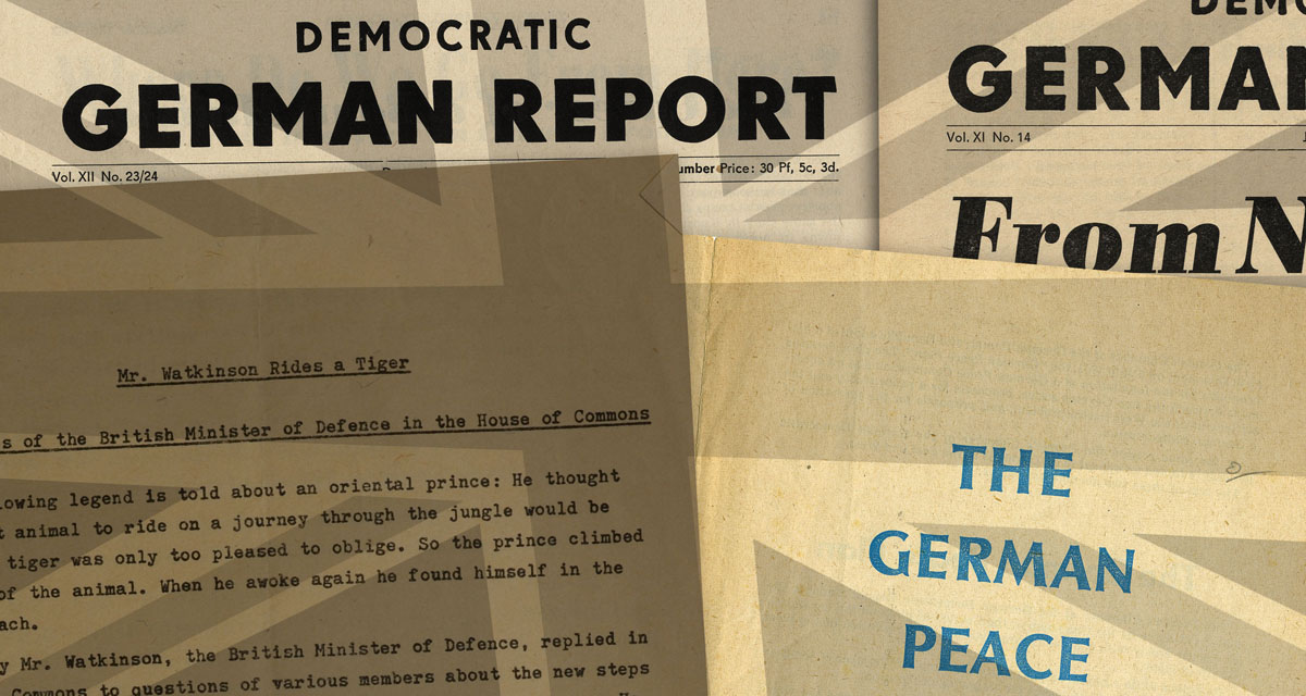 East German propaganda spread in Britain in 1960/1961