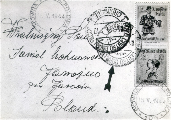 Propaganda cover sent through the mail with Winterhilfe stamps