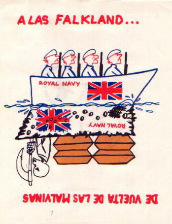 To the Falklands - Argentine propaganda leaflet