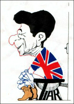 Argentine Ronald Reagan parody cartoon