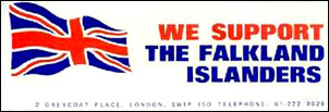 We Support the Falkland Islanders propaganda sticker