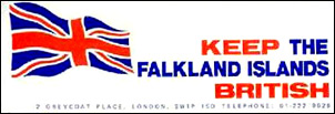 Keep the Falkland Islands British propaganda sticker