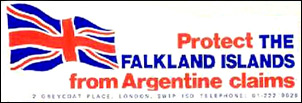 Protect the Falkland Islands from Argentine claims propaganda sticker