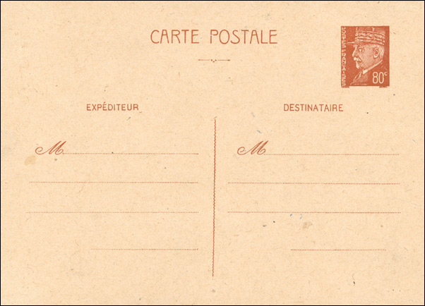 Propaganda stamps - Forged French Postcard