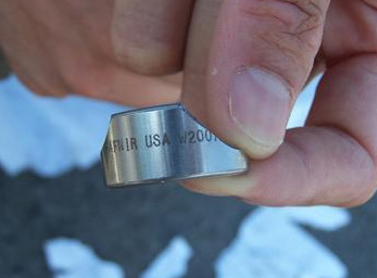 Alleged fragment of a US propaganda artillery shell used to disseminated Israeli leaflets