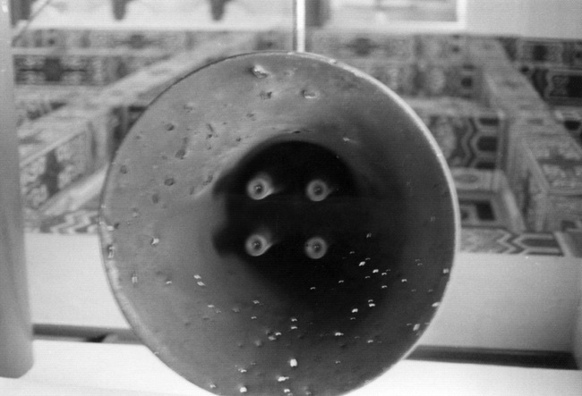 Loudspeakers situated on Kinmen broadcast messages to 