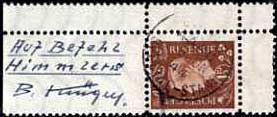 Kruger Forged stamp with annotation