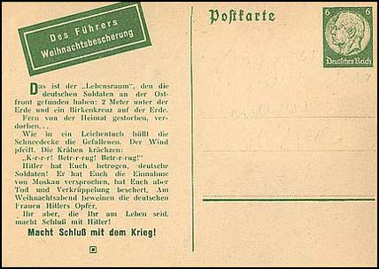 "Russian Postcard Lebensraum im Osten (""Living space in the East"")"