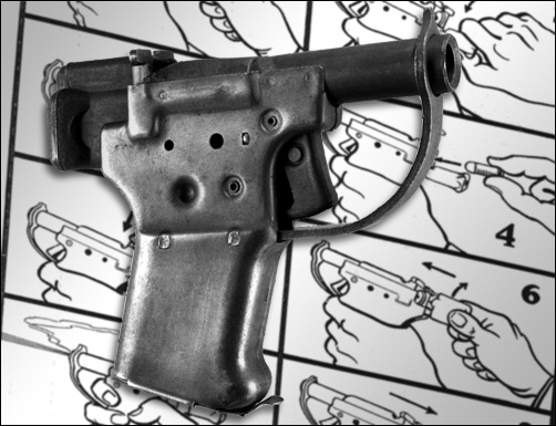 The Liberator pistol, one of the weapons contained in SOE's attack pack.