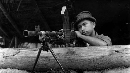 Malayan Police machine gun post at Fort Brooke