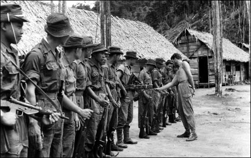 Malayan Police patrol based at Fort Brooke