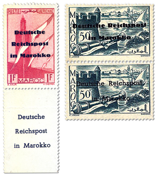 Propaganda stamps - The British PWE Morocco Overprints