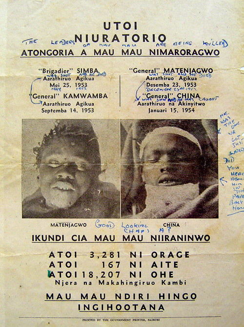 PsyWar.Org - Mau Mau Uprising - The Leaders of the Mau Mau are being killed poster