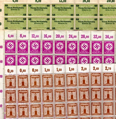 OSS Archived Genuine German Reference Stamps?
