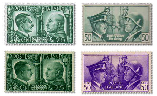 Propaganda Stamps - The British Parodies of the Italian-German Friendship Issue