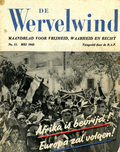 Leaflet-newspapers: Fig. 9. This handily sized 48 page news magazine, (The  Whirlwind), was dropped monthly from May 1942 until August 1944. It contained  many illustrations, some in colour.