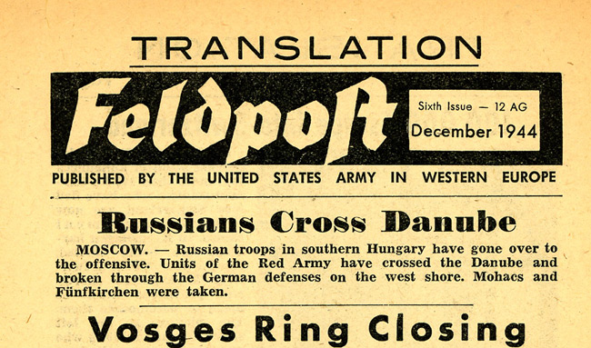 Leaflet-newspapers: Fig. 19. This is a rare example of one of the English  translations.