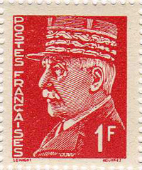 Propaganda stamps - The Petain with Cap Vignette
