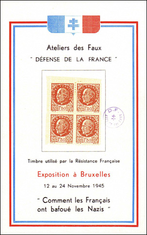 The Faux Petain on a Post-war Brussels Souvenir Sheet