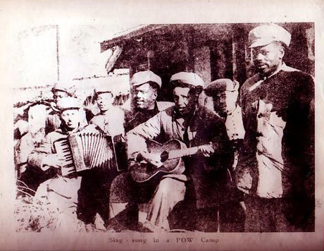 Communist Chinese propaganda - Sing-song in a POW camp