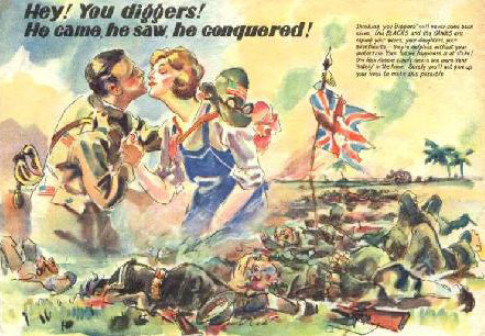 Japanese Propaganda Leaflet - Hey! You Diggers!