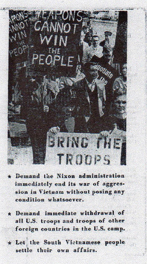 Weapons cannot win the people Vietnam propaganda leaflet