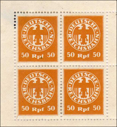 Propaganda stamps - Germany 50 pfennig Railway Fiscal Stamp