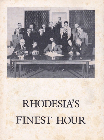 RHODESIA'S  FINEST HOUR