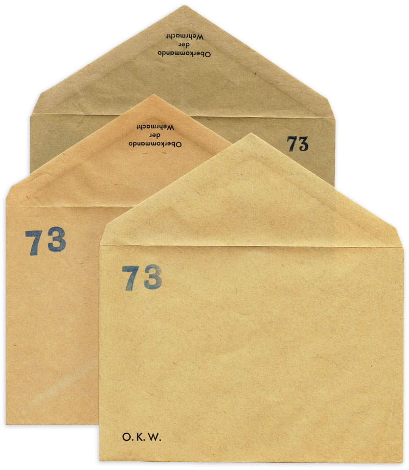 Forged WWII German Military Headquarters Envelopes