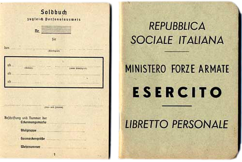 Operation Sauerkraut - Forged German and Italian military identification booklets