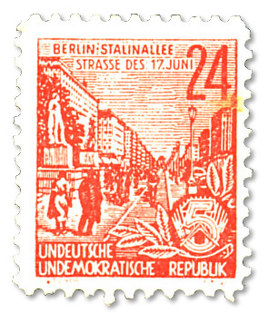 DDR The German Uprising 1953 parody postage stamp