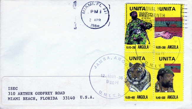 PsyWar.Org - UNITA stamps of the Angolan Civil War