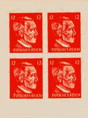 Reproductions and Facsimiles of the American Hitler Skull Stamps