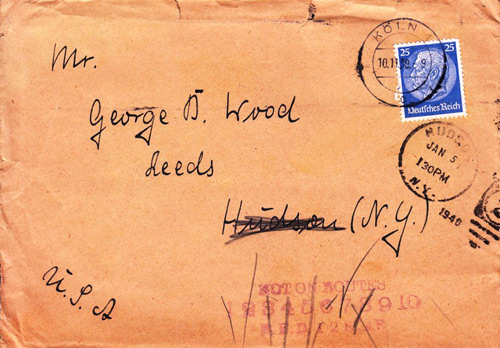 German envelope to United States