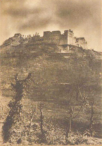 PAJ Postcard 184 – The bombed Monte Cassino