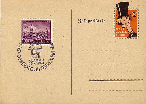 Fake German Chamberlain postcard