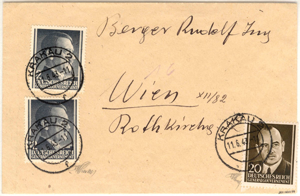 Hans Frank Parody postage stamp on Cover
