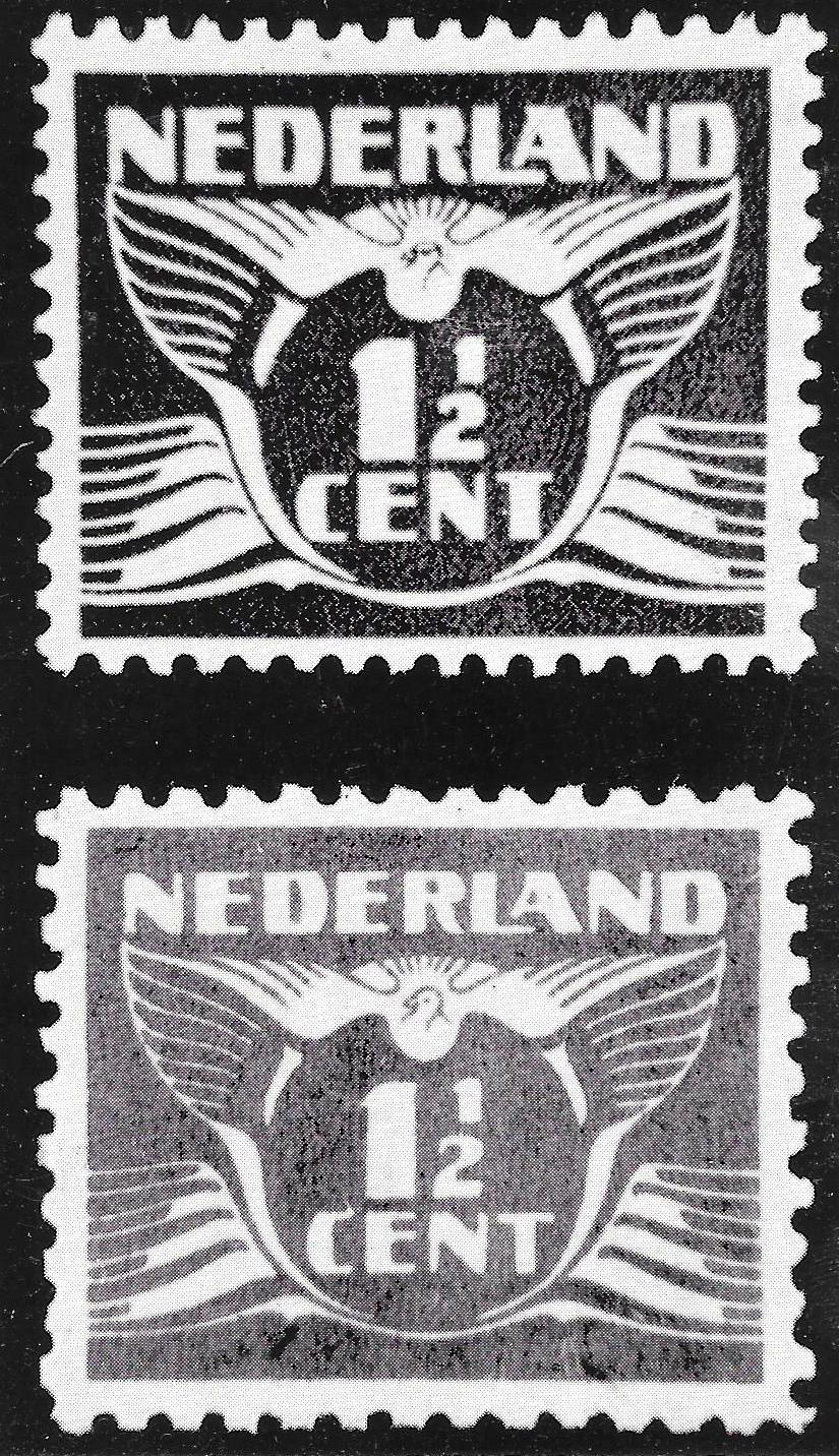 Propaganda stamps - The Dutch Genuine and forged 1½ Cent stamp
