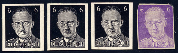 Black and Violet Proofs of the Himmler Parody Stamps Type II