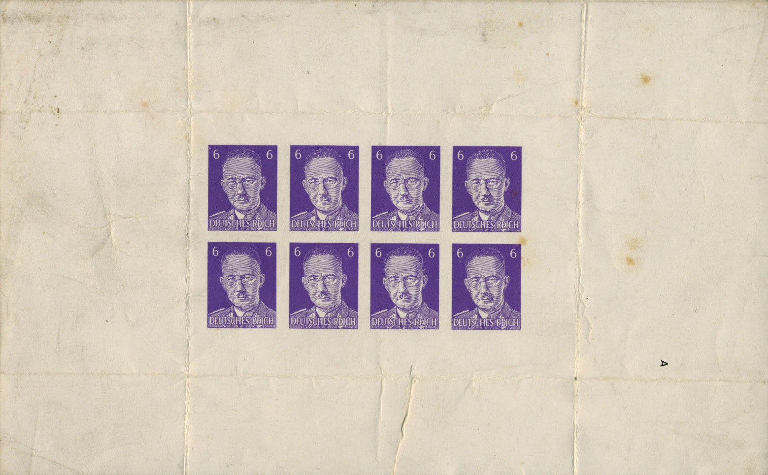 A Fourth proof sheet of PWE Himmler parody stamps