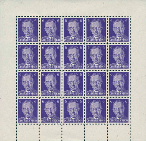 05fee1e89d0 British forged postage stamps - Himmler sheet
