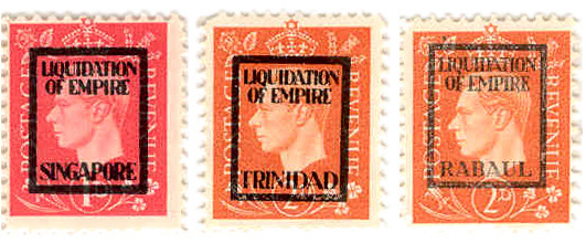 Examples of the Common Liquidation of Empire Overprints