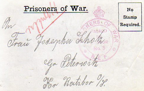 WWI British Propaganda Letter for German troops
