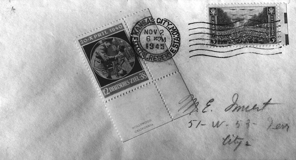 "An Envelope sent through the mail with a ""Spitler"" Stamp"