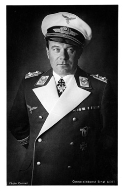 Luftwaffe General Ernst Udet was one of Germany's greatest First World War fighter pilots