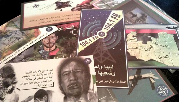 NATO PSYOPS leaflets for Libya