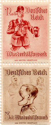 "Propaganda stamps - The ""Winter Relief Fund"" parodies"