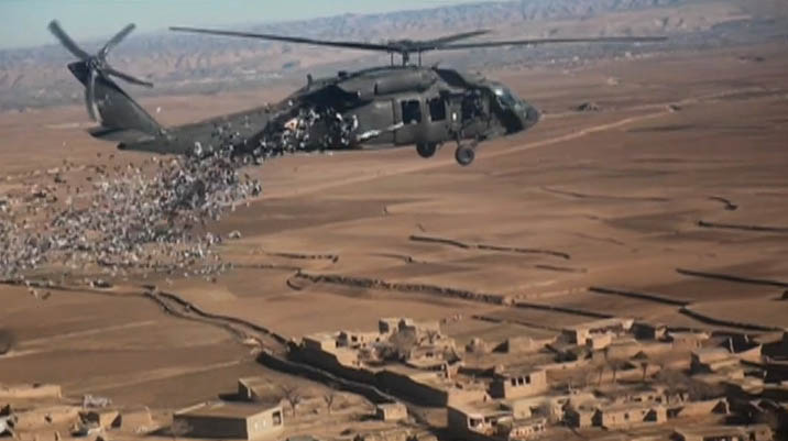 Video: Coalition Special Operations Forces drop leaflets over Afghanistan
